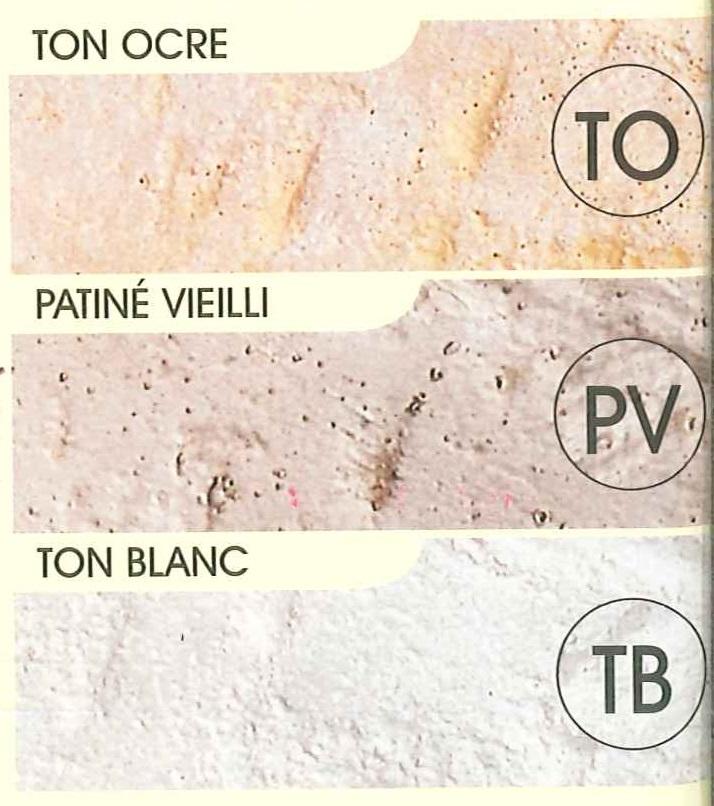 3 teintes de finition pierre