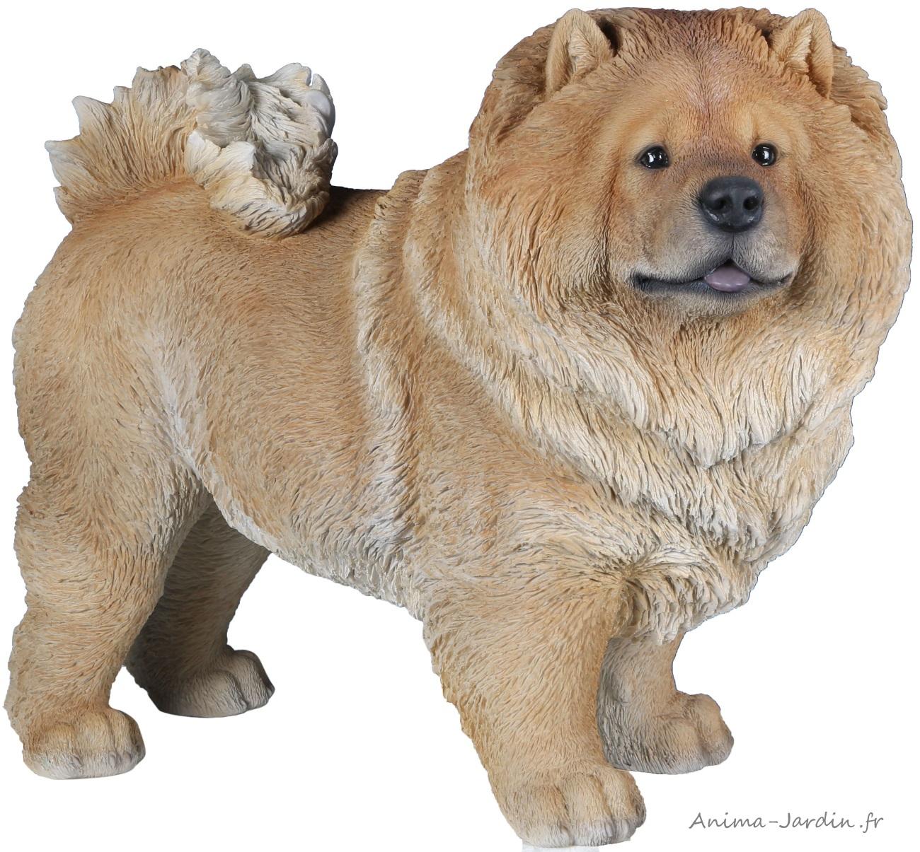 Chow-chow, 43 cm en résine, déco de jardin, Riviera, achat, chien, animal