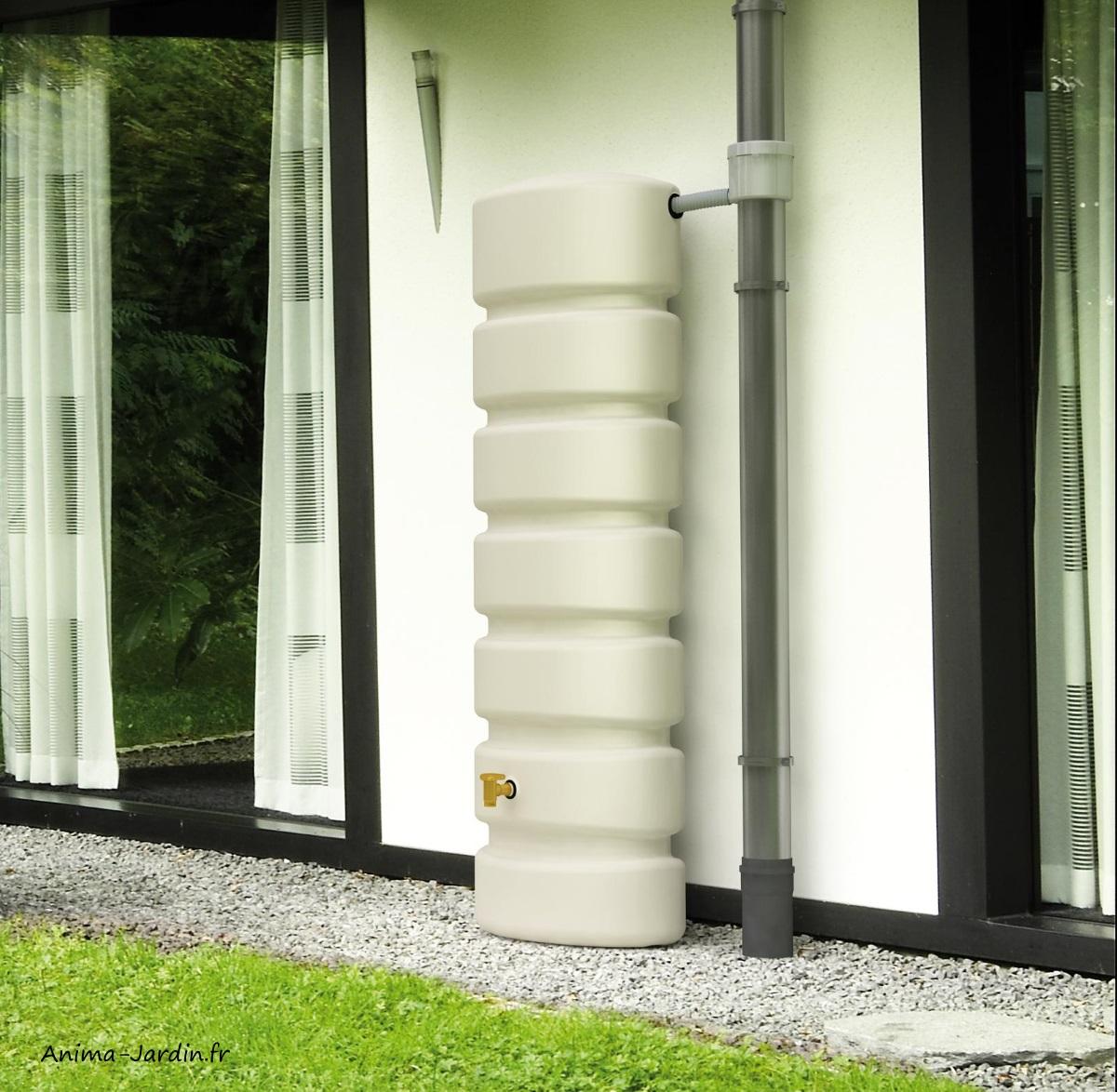Récupérateur d'eau-Classic-650L-Sable-Graf-Anima-Jardin.fr