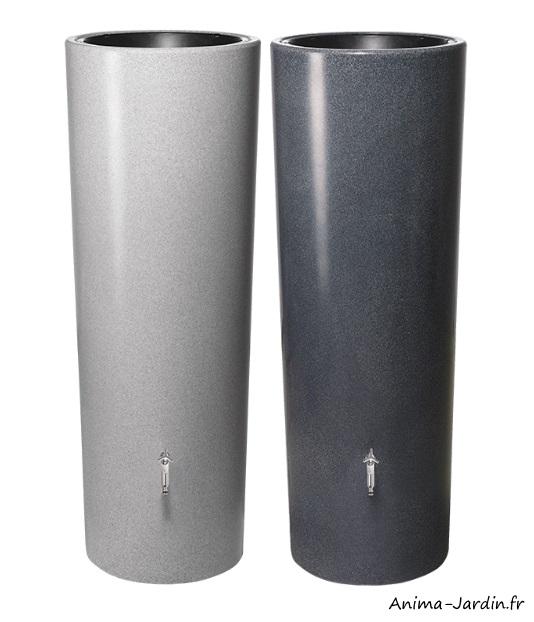 Récupérateur d'eau-Stone-350L-avec bac à fleurs-Graf-Anima-Jardin.fr