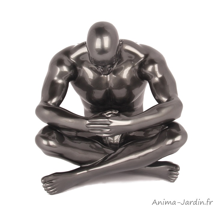 Sculpture-Homme pensif-silhouette-Polyrésine-idée cadeau-décoration intérieure-Anima-Jardin.fr
