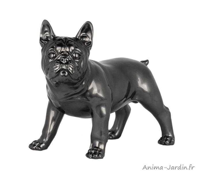 Statue-Bouledogue français-décoration intérieure-sculpture-polyrésine-Anima-Jardin.fr