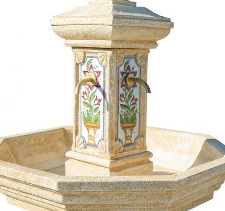 Fontaine-adonis-ocre-delfos-decor-fleur-anima-jardin.fr