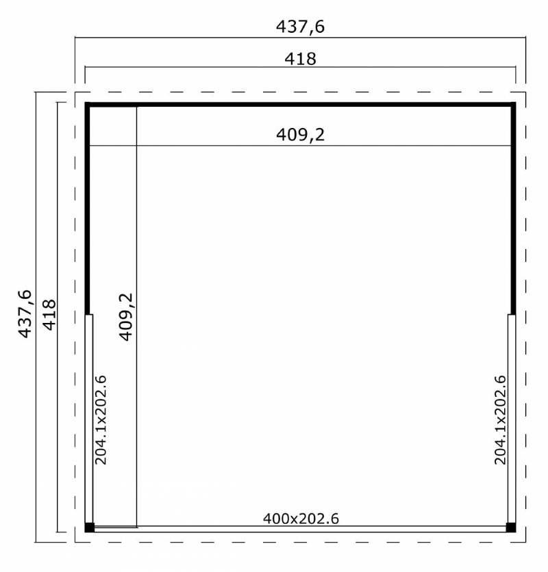 Abri de jardin en bois-DOMEO 5-plan-dimensions-Anima-Jardin.fr