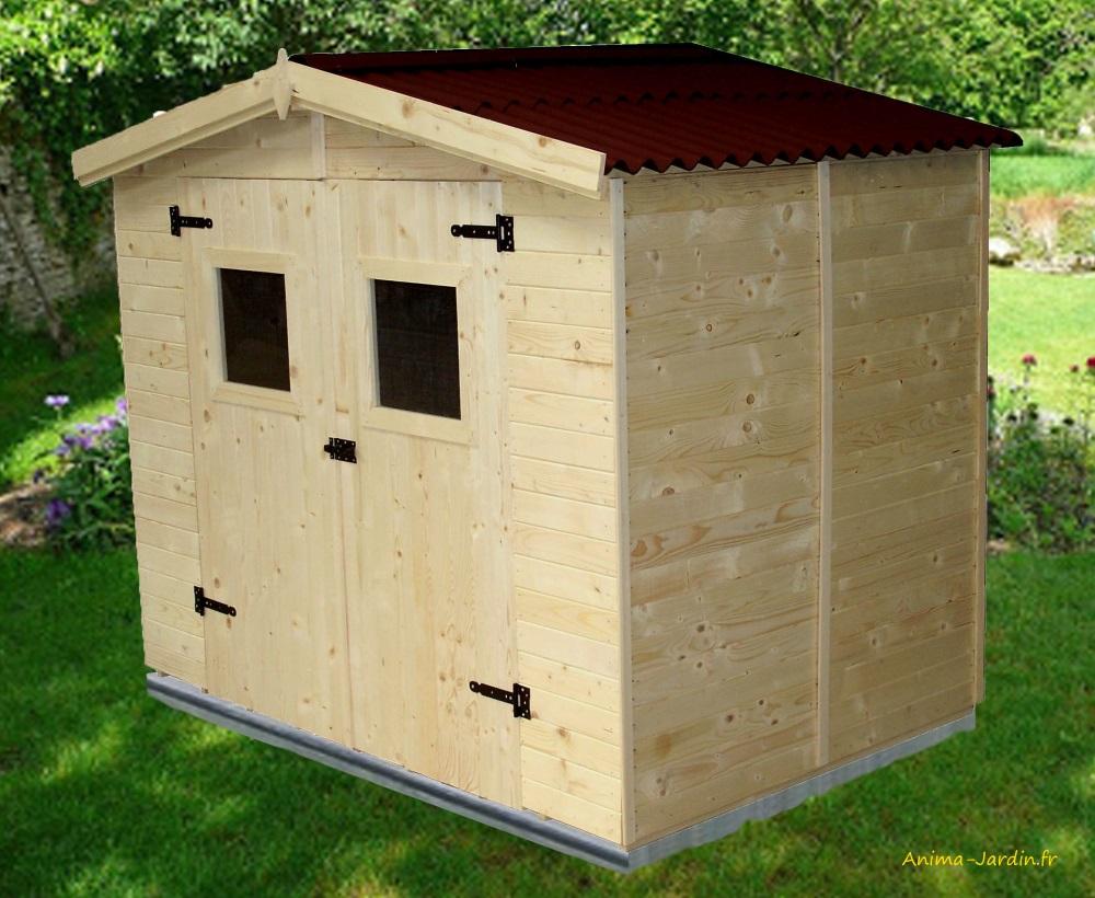 abri de jardin en bois-16mm-3,70 m²-avec plancher-Foresta-Anima-Jardin.fr