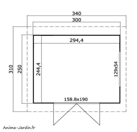 Abri de jardin en bois-29m²-Faro 1-7m²-anthracite-toit plat-épicéa-achat