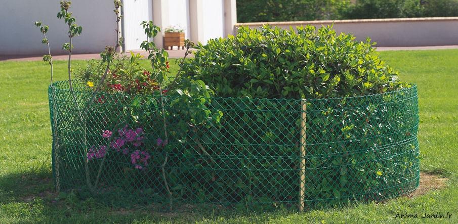 Grilage-maille pour parterre-fleurs-délimitation-protection-Nortène-Anima-Jardin.fr