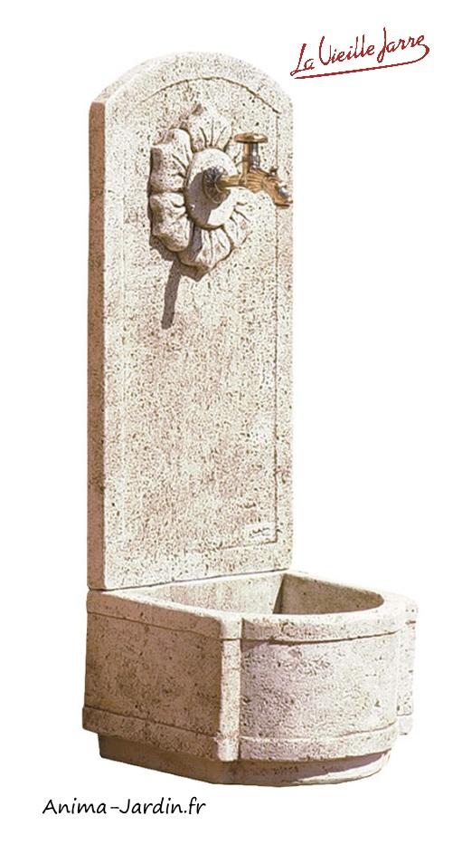 Fontaine murale-point d'eau-la Vieille Jarre-Anima-Jardin.fr
