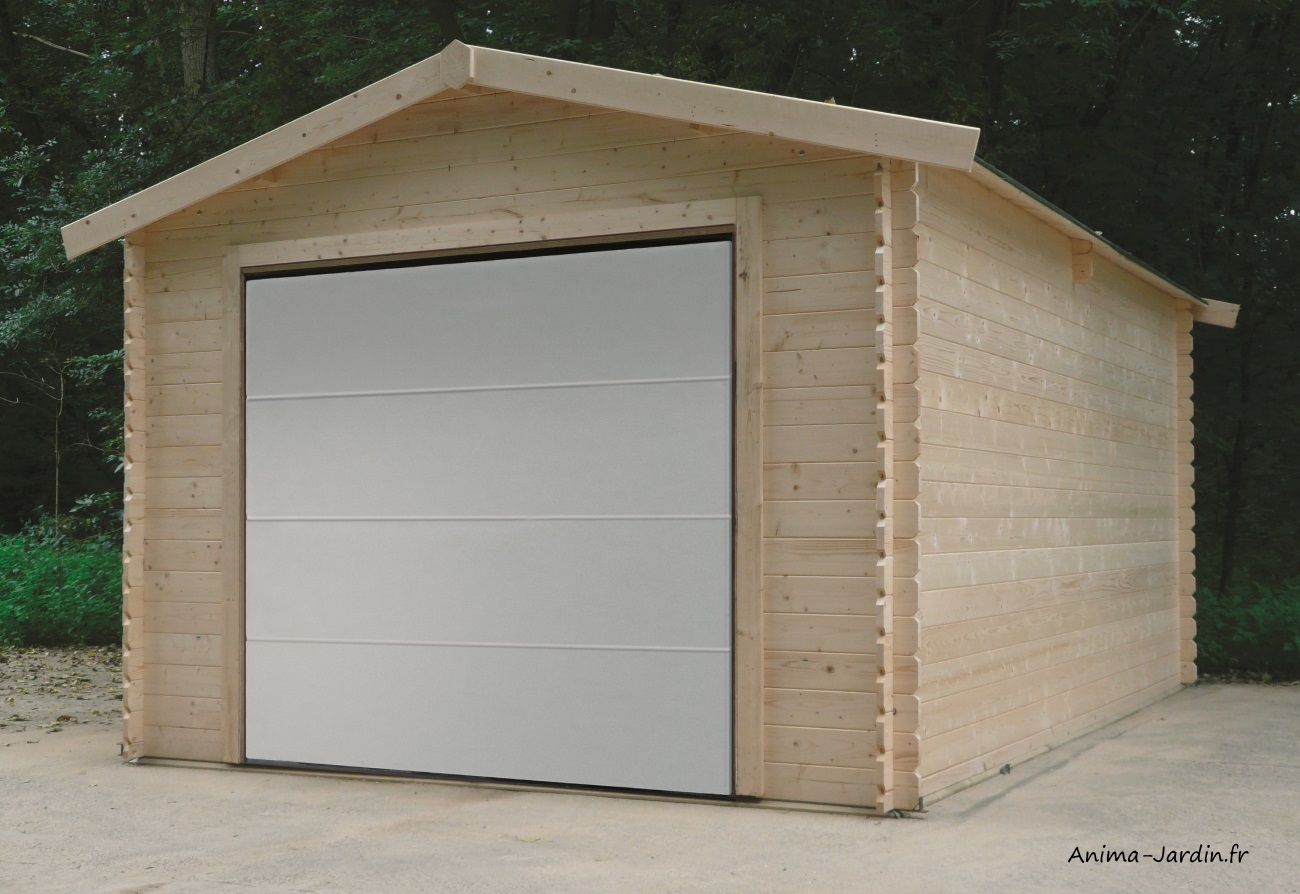 Garage-traditionnel-en bois-véhicule-voiture-Anima-Jardin.fr