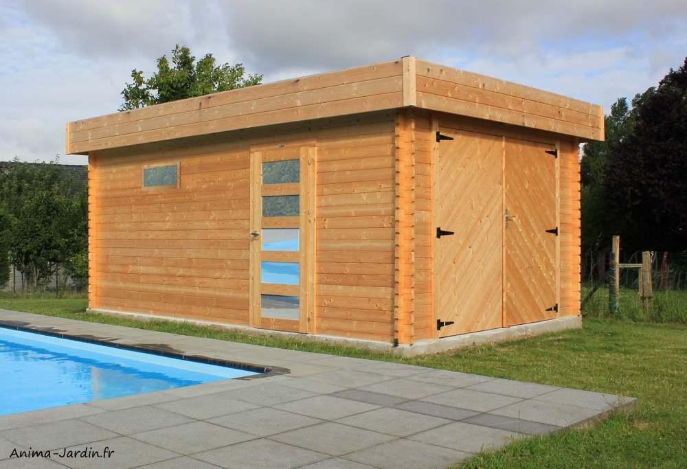 Garage en bois-porte manuelle-Solid-Anima-Jardin.fr