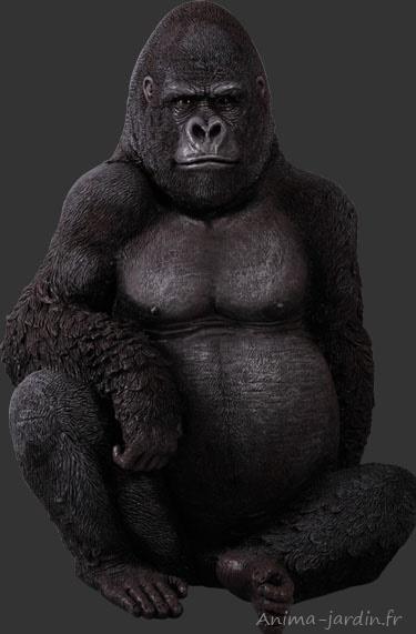 Gorille-assis-résine-115cm-anima-jardin.fr