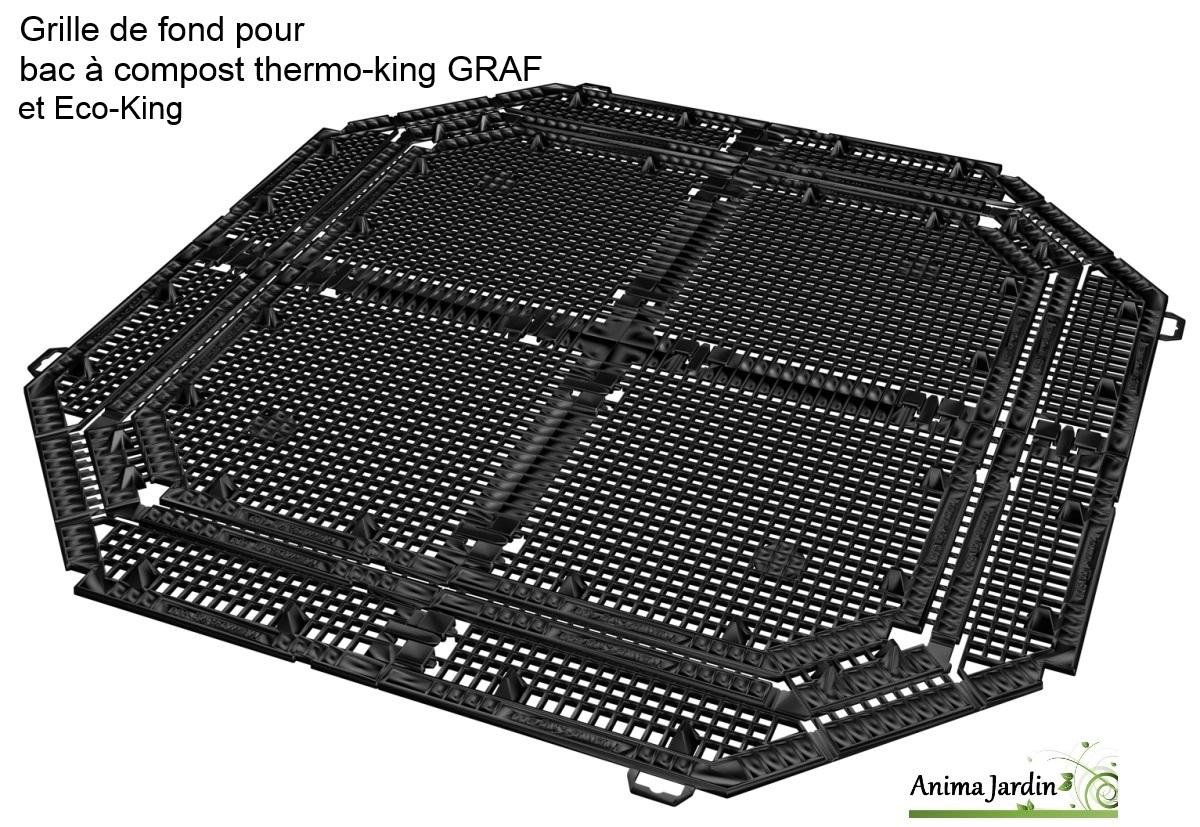 composteur thermo king vert 400 600 ou 900 litres avec grille graf. Black Bedroom Furniture Sets. Home Design Ideas