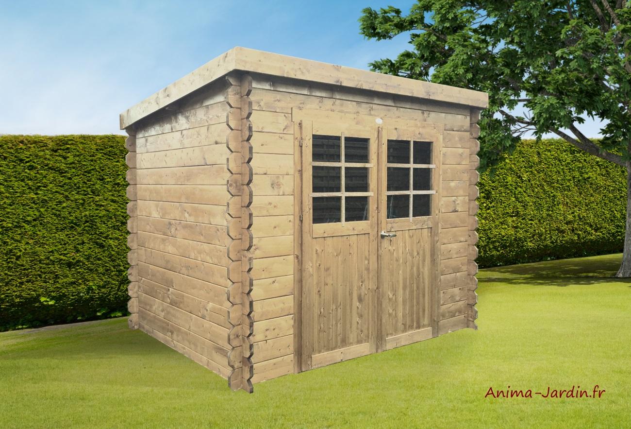 Abri en bois-Jena-6,25m²-Solid-chalet-cabane-Anima-Jardin.fr