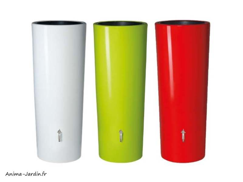 Récupérateur d'eau de pluie 350L-Color-2en1-moderne-avec bac à fleurs-Graf-achat-pascher