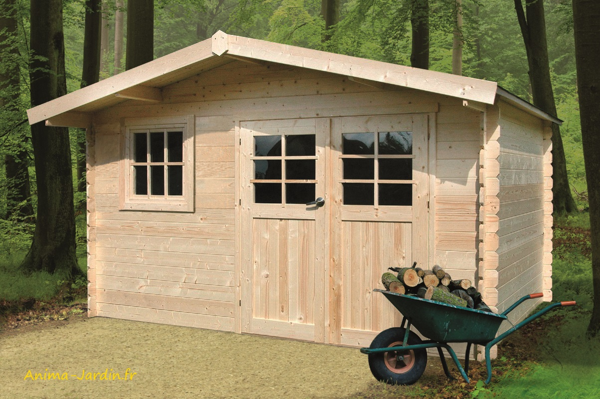 Grande Cabane De Jardin Pas Cher grand abri de jardin en bois 34mm, linz, 13m², 2 portes