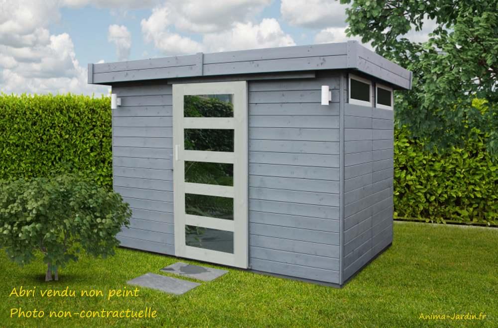 Abri de jardin en bois 19 mm-Lund-toit plat-4,85m²-solid-pas cher-achat-Anima-Jardin.fr