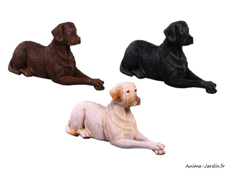 Labrador couché en résine, animal, jardin, décoration du jardin, achat, pas cher