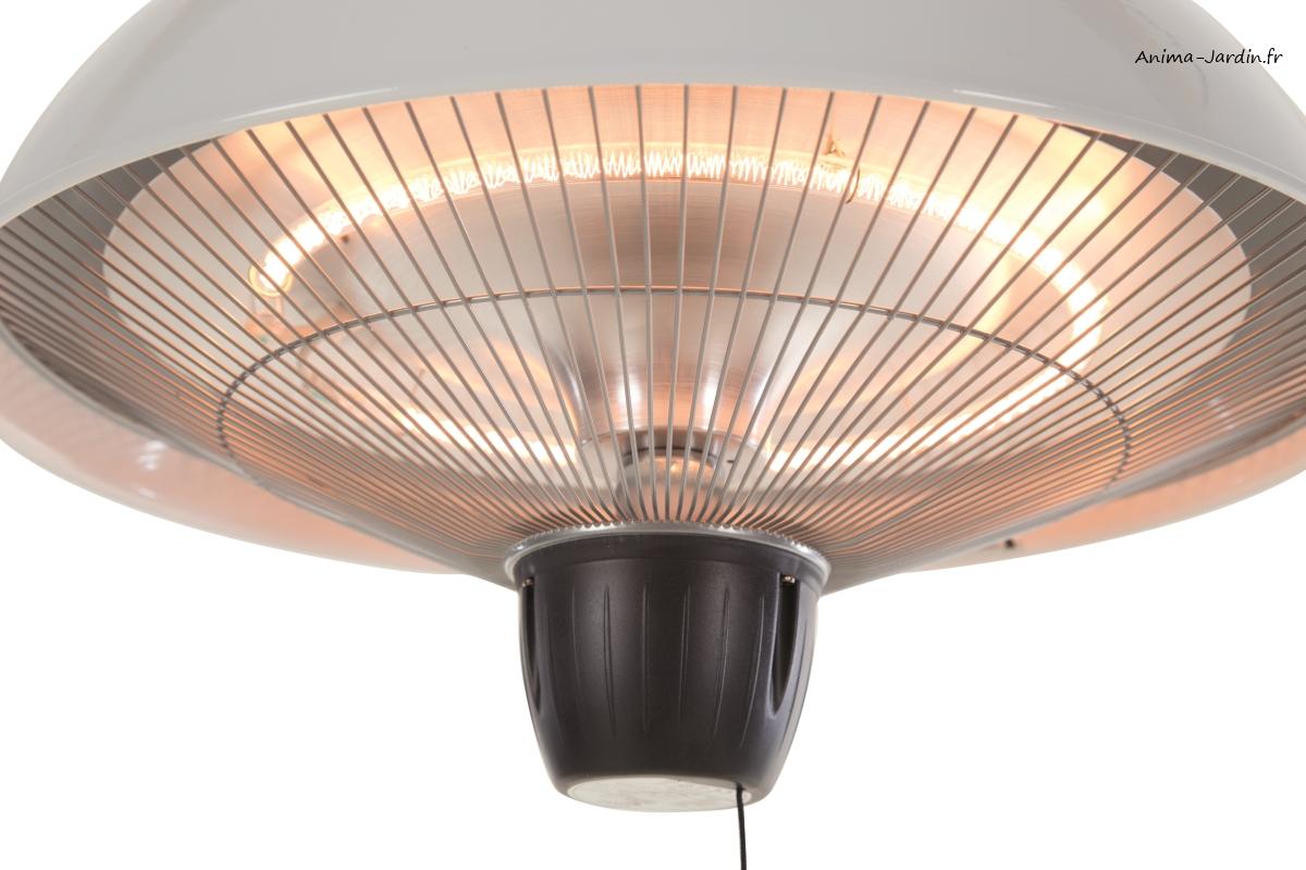 Chauffage pour terrasse, ASTRO, extérieur, Lampe chauffante suspendue