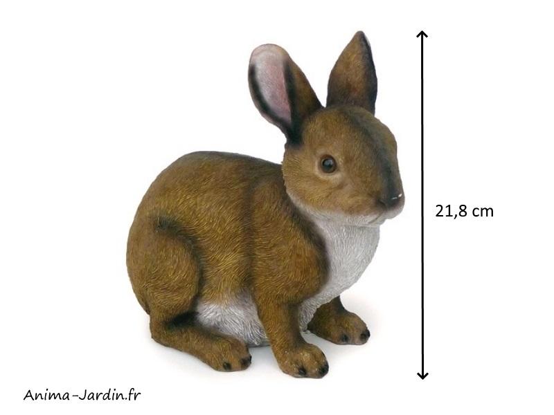 Lapin, 22 cm, dimensions, animal en poly-résine, décoration du jardin, achat, vente, pas cher