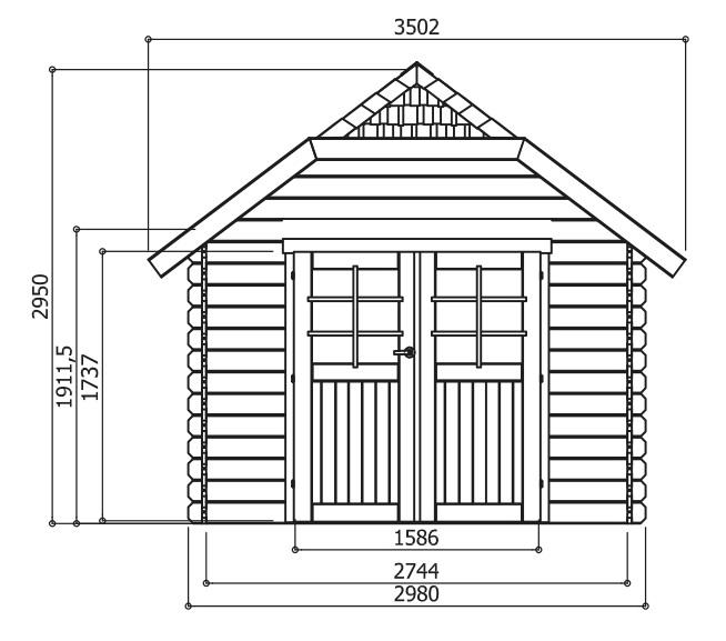 Abri de jardin en bois-dimensions-10m²-Solid-Limerick-Anima-Jardin.fr