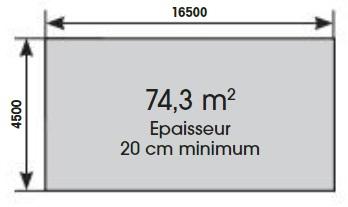 Plan dalle de béton-Linéa 15,50m-rectangulaire-Ubbink-Anima-Jardin.fr