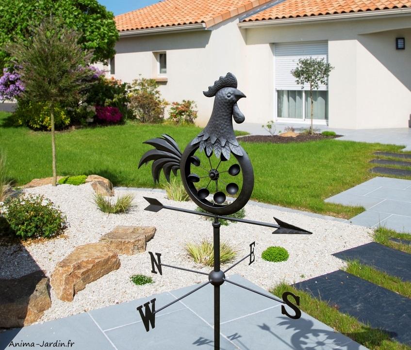 Girouette en métal, Maestro, coq, flèche, direction du vent, Nortene,  achat, pas cher