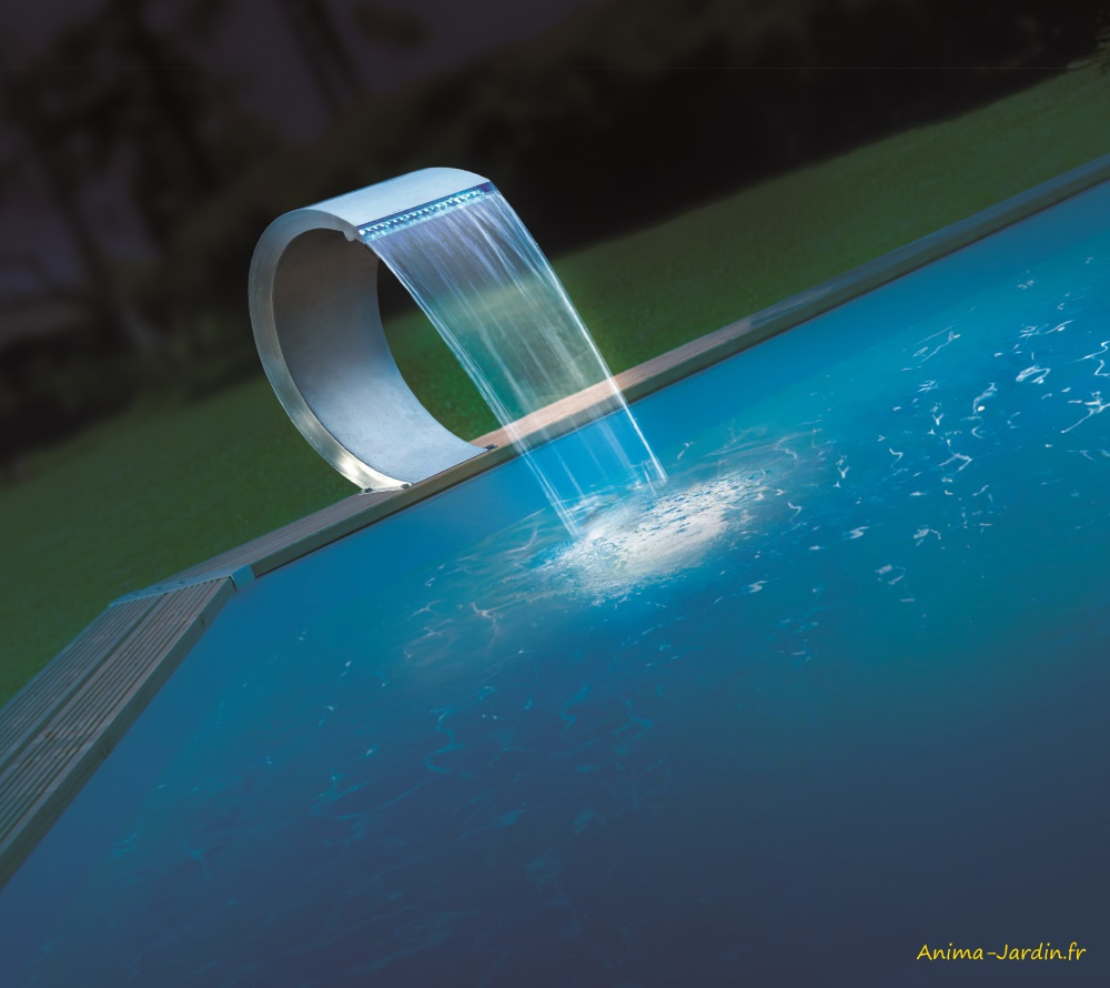 Cascade Mamba Led-piscine-étang-décoration-Ubbink-Anima-Jardin.fr