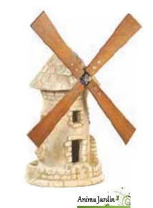 moulin roue vieilli