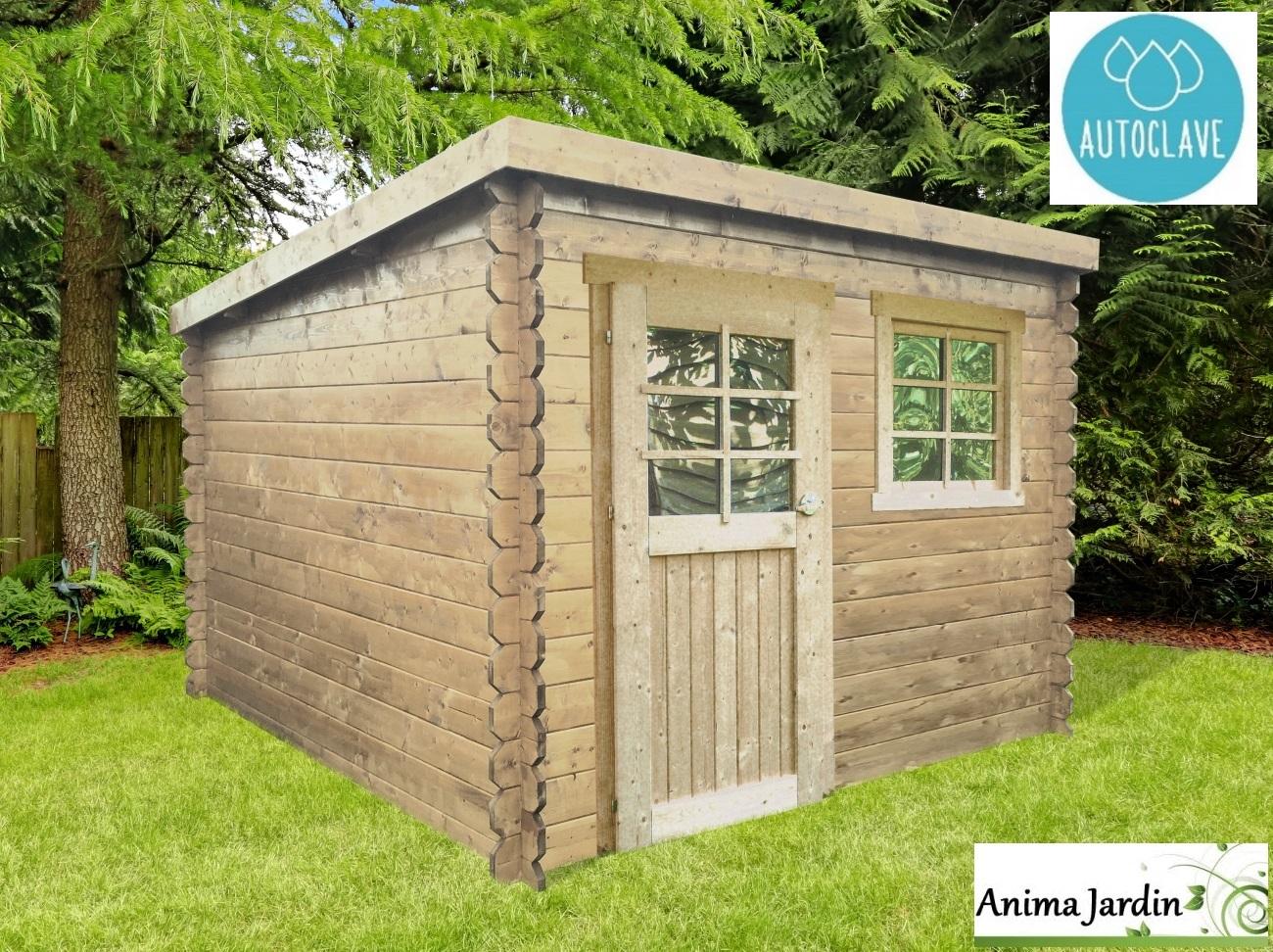 Abri de jardin en bois autoclave 28mm, Nevers, 5m², 1 portes ...