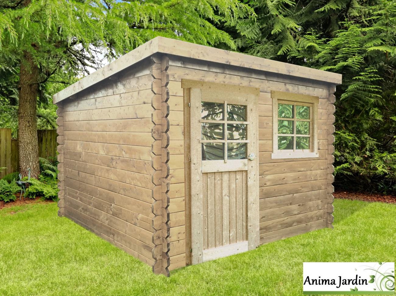 Grande Cabane De Jardin Pas Cher abri de jardin en bois 28mm, nevers, 5m², 1 portes, chalet