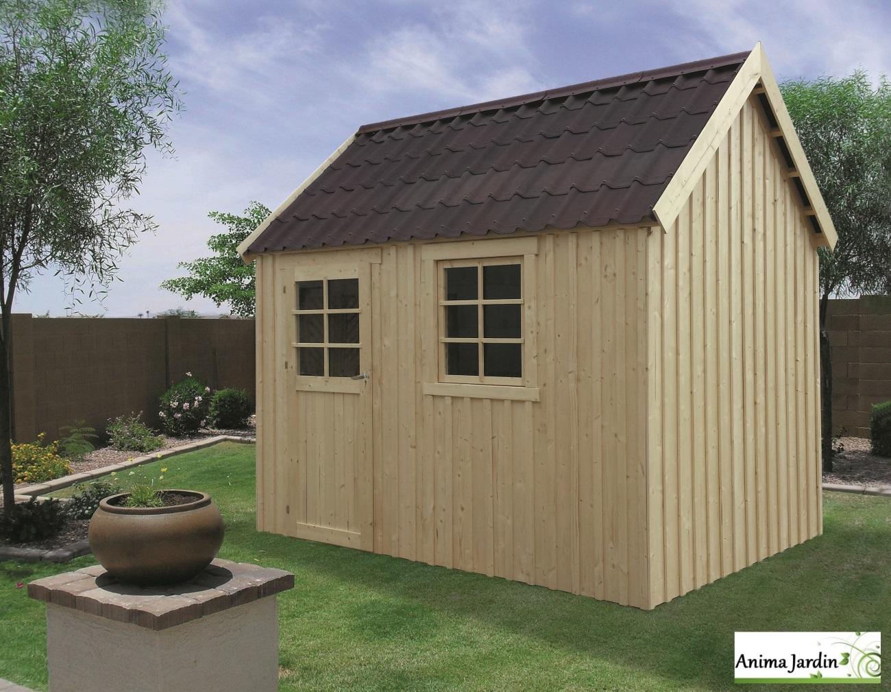 Abri en bois-Oléron-chalet-cabane-6,12m²-rangement jardin-Anima-Jardin.fr