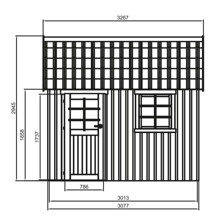 Abri en bois-Oléron-chalet-cabane-6,12m²-rangement jardin-dimensions-Anima-Jardin.fr