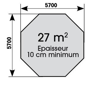 Dalle de béton Océa 580-Ubbink-Anima-Jardin.fr