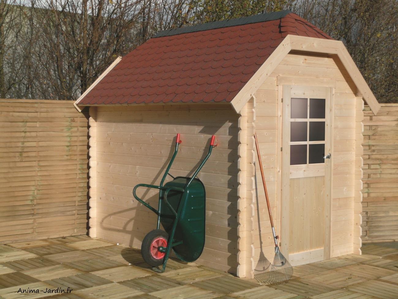 Abri de jardin en bois 28mm-Galway-4,79m²-1porte-Solid-Anima-Jardin.fr