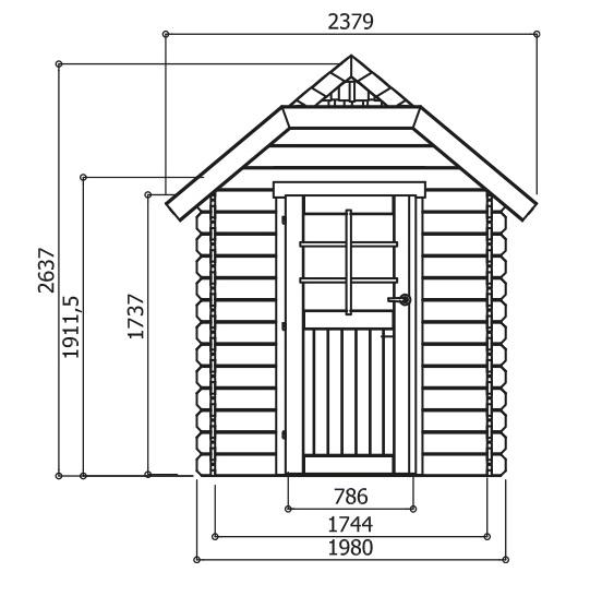 Abri de jardin en bois 28mm-Galway-4,79m²-Solid-Anima-Jardin.fr