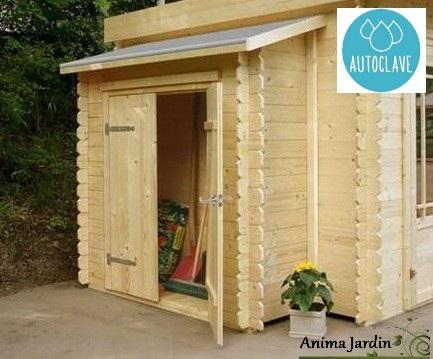 Remise à outils 2 portes-autoclave-adossable pour abri de jardin-Solid-Anima-Jardin.fr