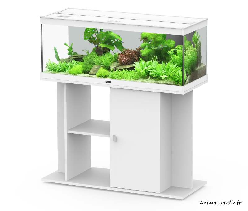 Aquarium-Style LED 100-Blanc-avec meuble-Aquatlantis-Anima-Jardin.fr