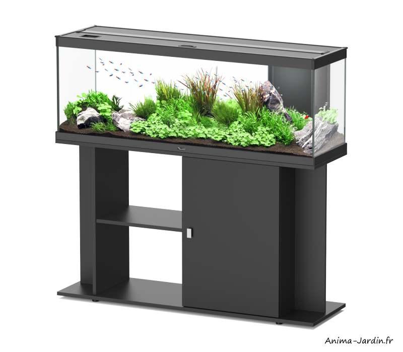 Aquarium-Style LED 120-capacité 174 L-avec meuble-Aquatlantis-Anima-Jardin.fr