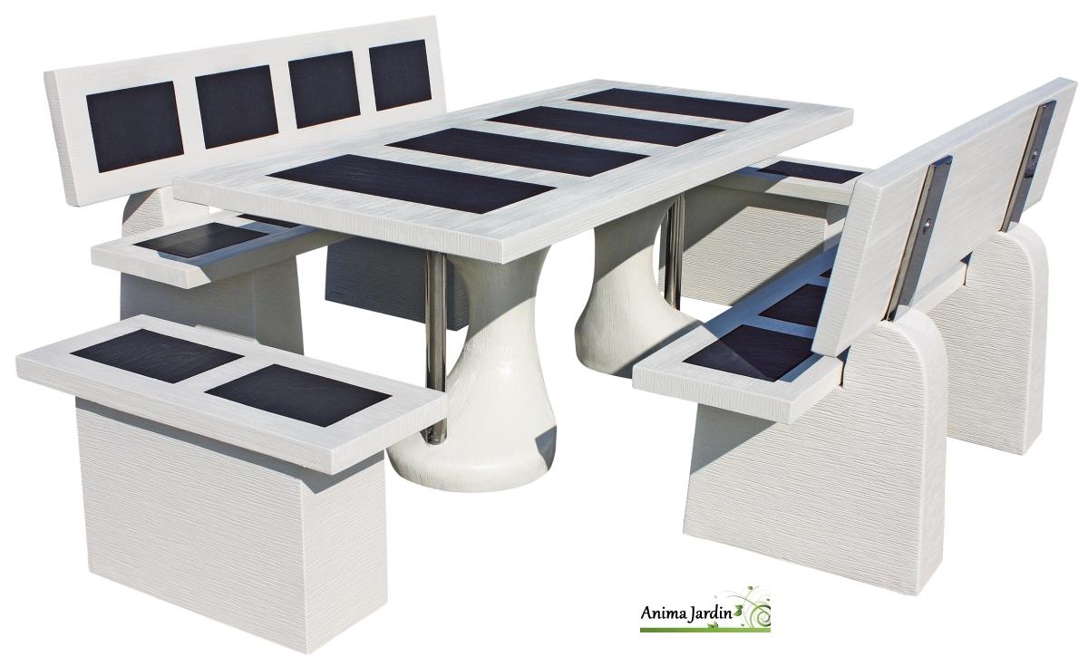 Salon en pierre status vulcan ivoire de grandon framusa for Carrelage inox fr