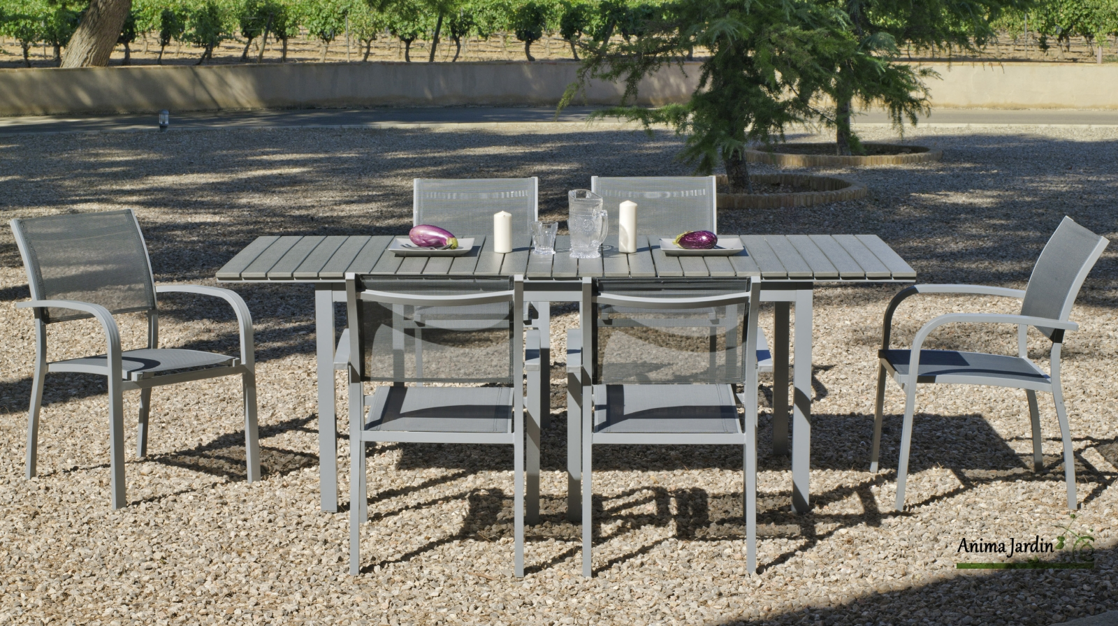 Table De Jardin Extensible Imitation Bois - Maison Design ...