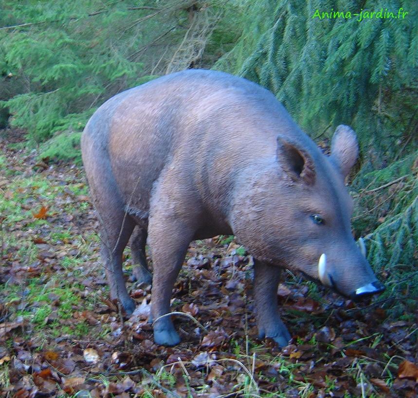 Sanglier en résine-cochon sauvage-animal-de-la-forêt-décoration-Jardin