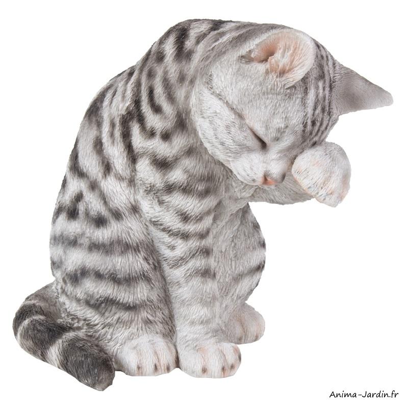 Shorthair gris-animal en résine-26 cm-décoration du jardin-Animal-Riviera-achat-Anima-Jardin.fr