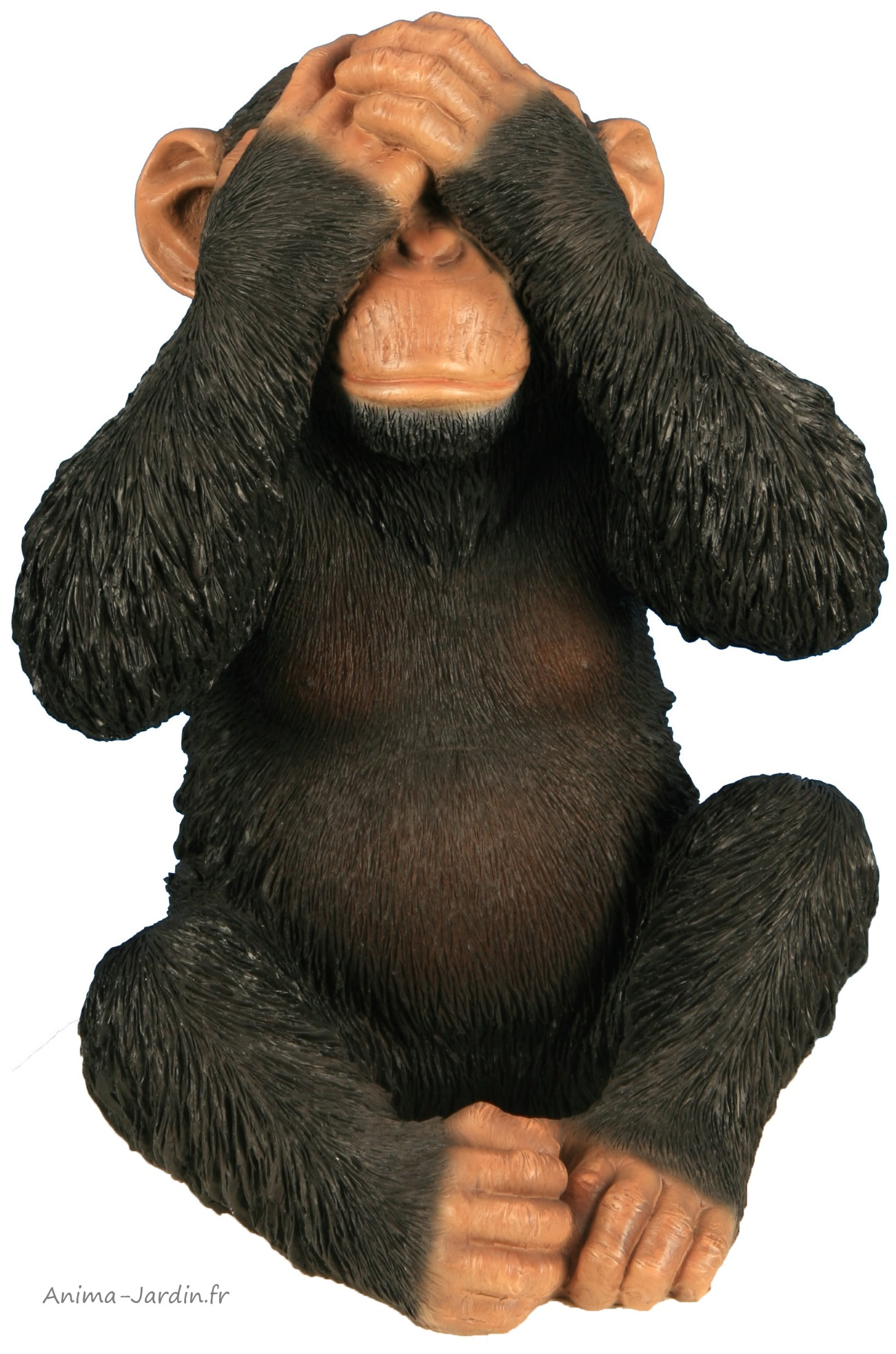 Singe-32cm-résine-ne rien voir-primate-décoration-animal