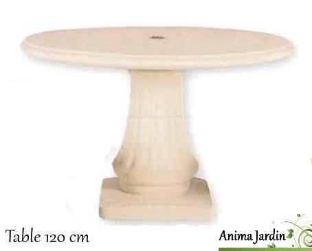 table en pierre reconstituée-120cm-anima-jardin