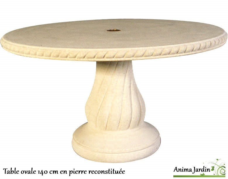 table-pierre-reconstituée-ovale-140cm