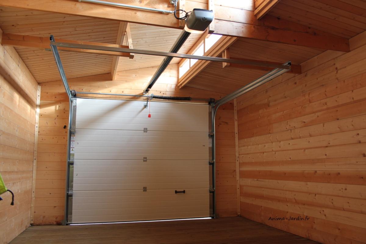 Garage bois porte coulissante torino toit 2 pentes solid pas cher - Porte garage electrique ...