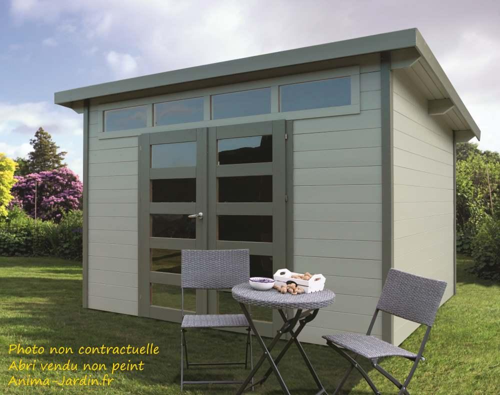 Abri de jardin en bois 28 mm-Venezia-9m²-lumineux-Solid-achat-pas cher