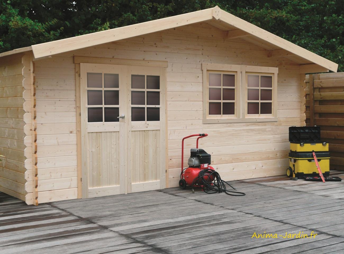 Grande Cabane De Jardin Pas Cher grand abri de jardin en bois 28mm, vernier, 26m², porte