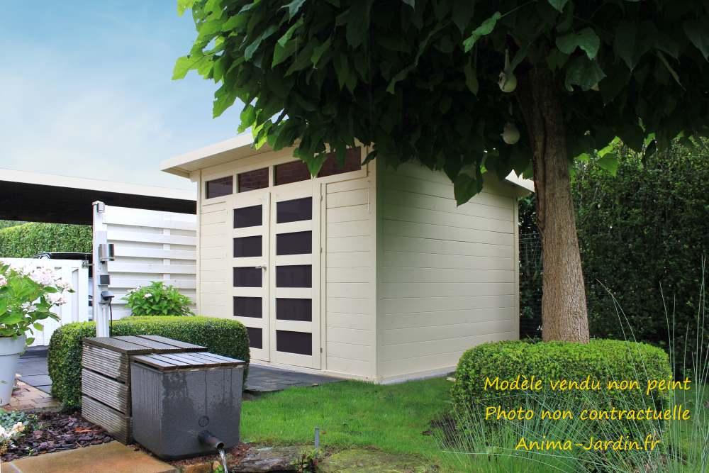 Abri de jardin en bois 28mm-Verona-7m²-lumineux-Solid-achat-pas cher-Anima-Jardin.fr