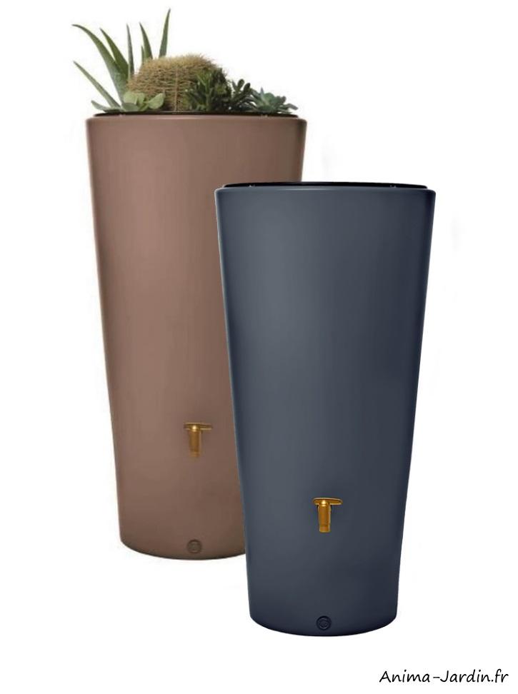 Récupérateur d'eau de pluie-Vaso-220L-2en1-avec bac à fleurs-Graf-Anima-Jardin.fr